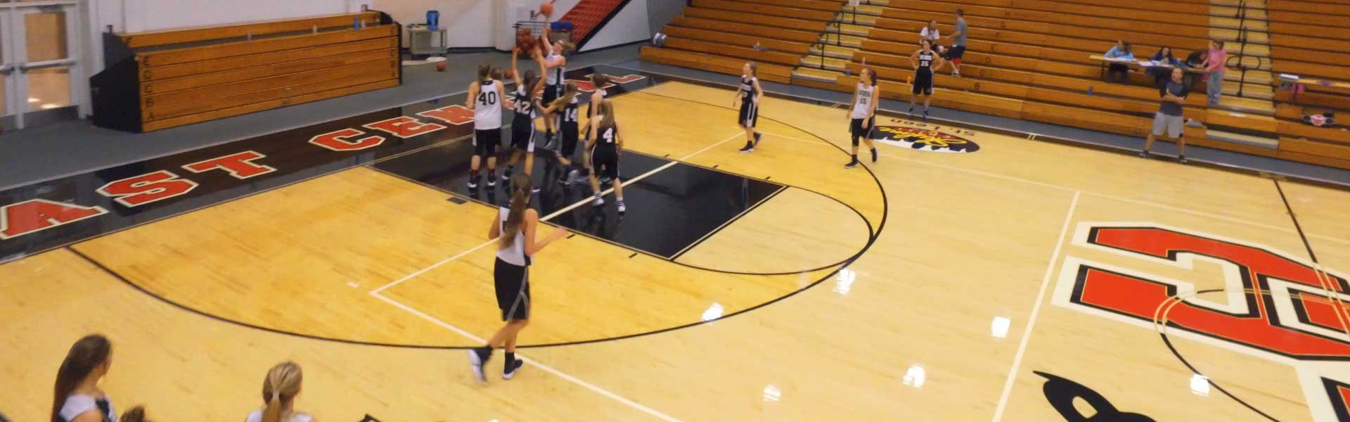 East Central High School Girls Basketball Practice